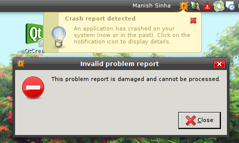 Crash Report Crashed
